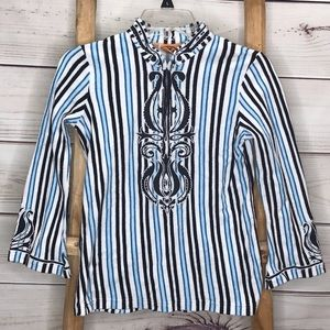 Tory Burch Striped Sweater Youth Large